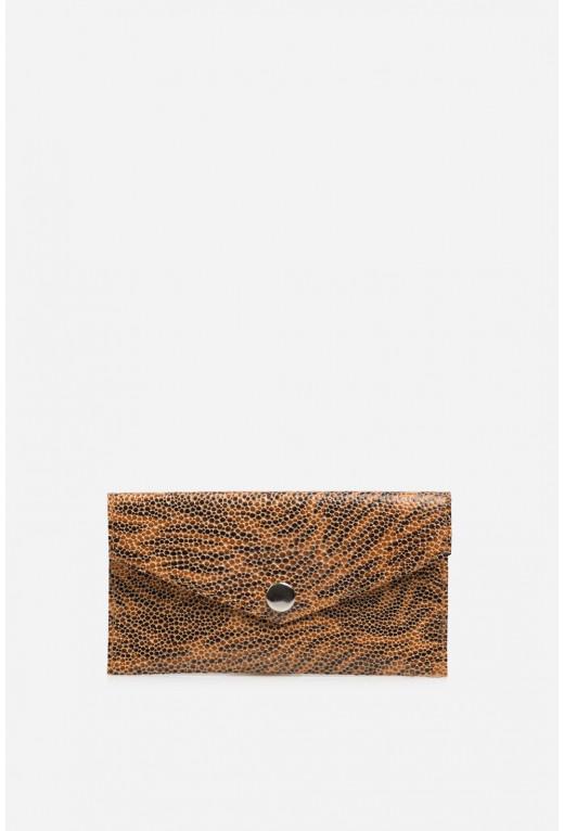Гаманець конверт  з помаранчево-коричневої шкіри