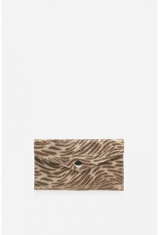 Гаманець конверт  з сіро-коричневої шкіри