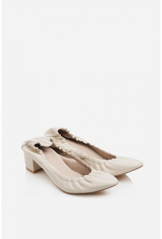 Туфлі ELINE  бежеві на резинці /3 см/
