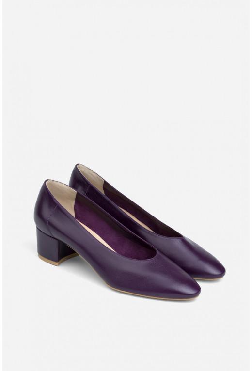 Туфлі ELINE фіолетові шкіряні без підкладу /4 см/