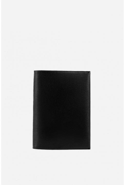 Обкладинка на блокнот з чорної шкіри А5