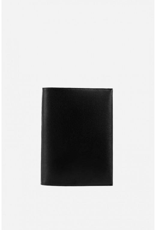 Блокнот  з чорної шкіри А5