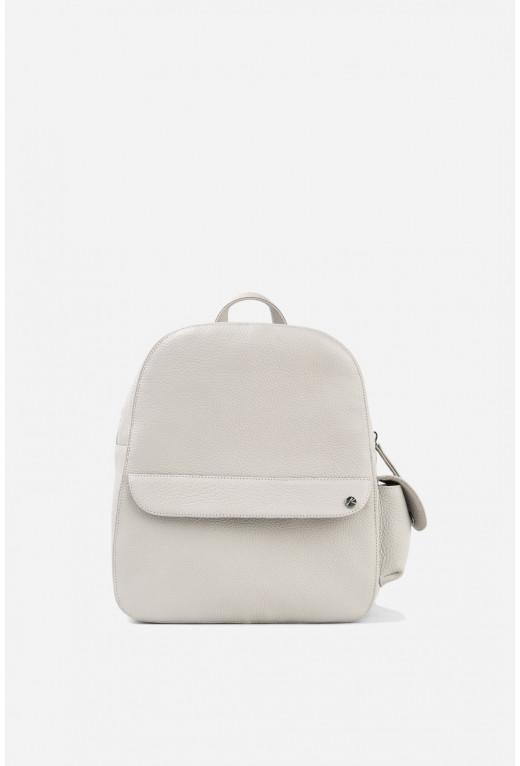 Рюкзак з перлинової шкіри флотар /срібло/