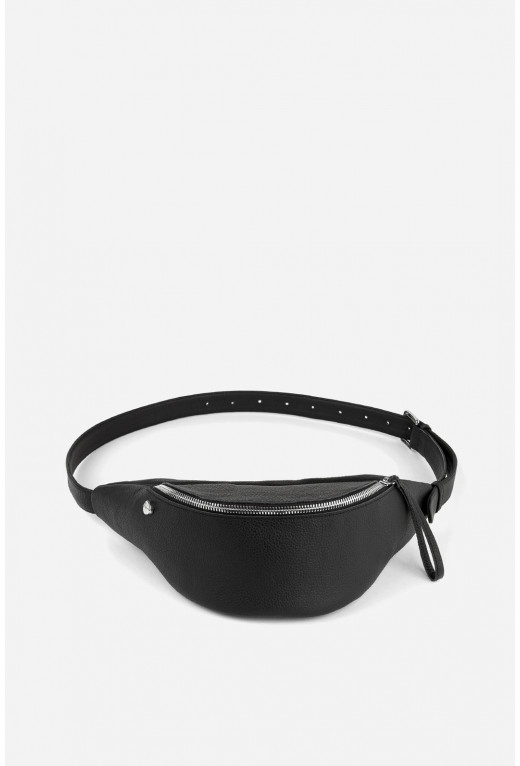 Bicycle bag   з чорної шкіри флотар /срібло/