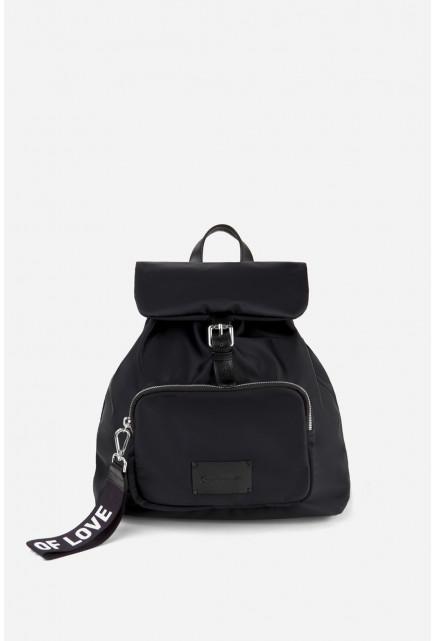 Рюкзак NYLON чорний /срібло/