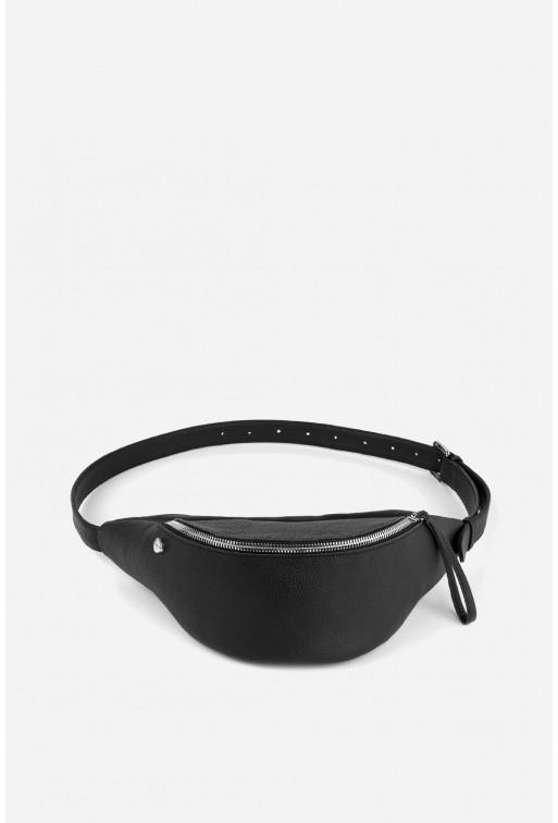Bicycle bag  з вугільної шкіри флотар /срібло/