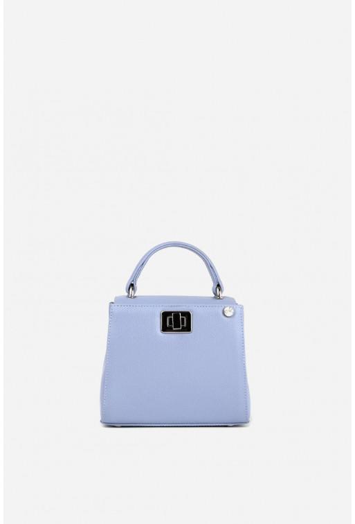 Портфель ERNA MICRO з блакитно-бузкової фактурної шкіри /срібло/