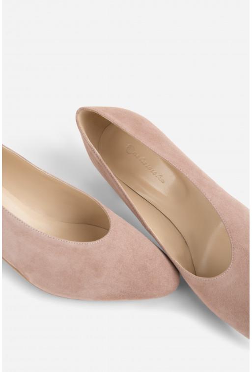 Туфлі ELINE  пудрові замшеві /4 см/