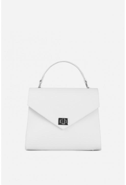 Портфель MITTE GRANDE MINI  з білої шкіри саф'яно /срібло/