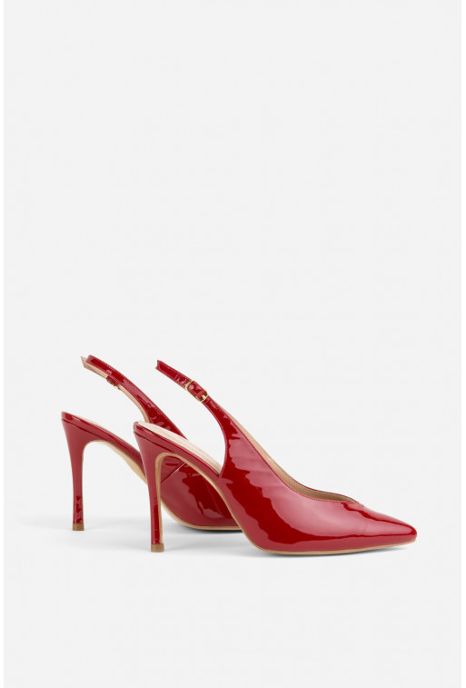 Туфлі  червоні лаковані /10 см/