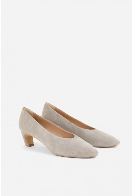 Туфлі ELINE  сірі замшеві /4 см/