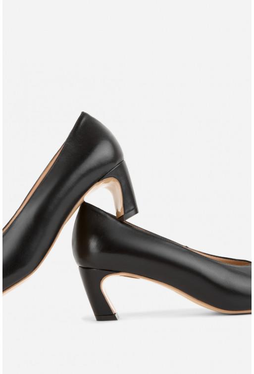 Туфлі ELINE  чорні шкіряні /4 см/