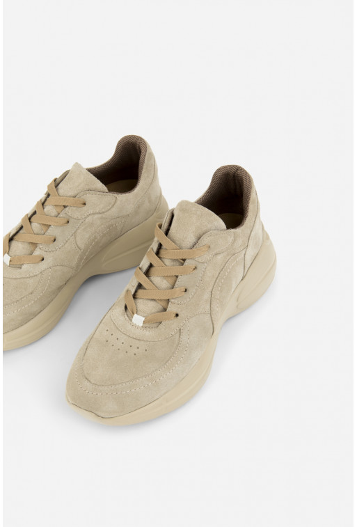 Кросівки  світло-фісташкові замшеві