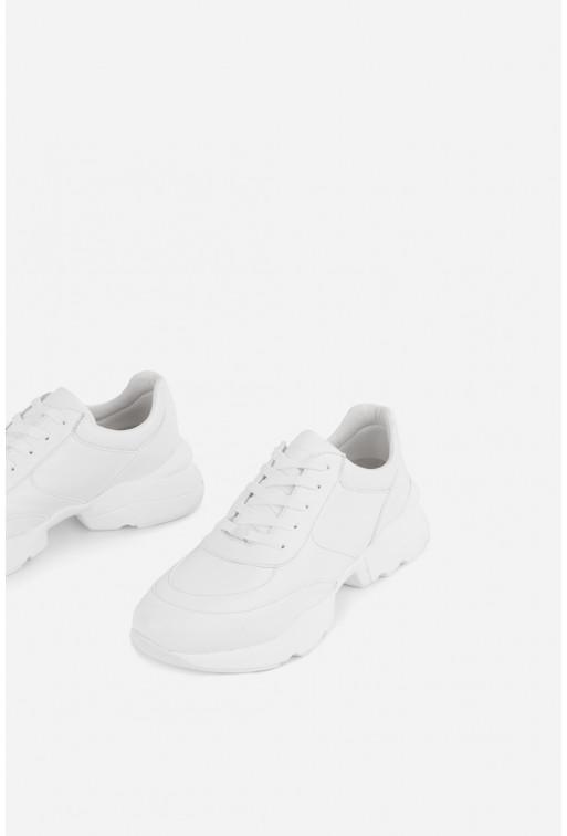 Кросівки білі шкіряні  класичні