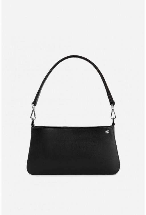Vivian bag  з чорної гладкої шкіри /срібло/