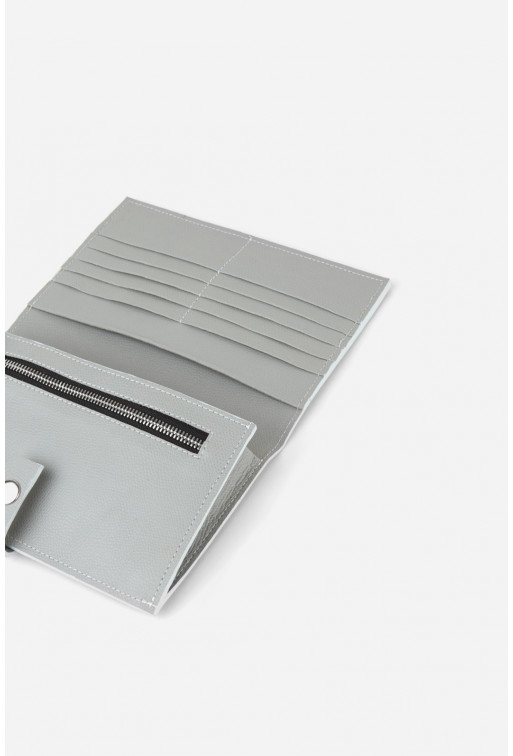 TICKET CASE  з перламутрової шкіри /срібло/
