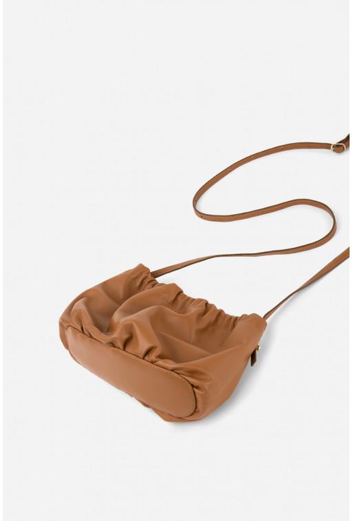 Кросбоді CLOUD BAG  з карамельної шкіри /золото/