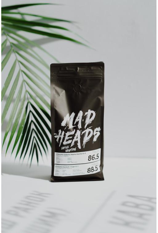 Кава MAD HEADS Ethiopia Sidamo Mamo Kacha Gr.2 +  Ethiopia Kanketi Foge Gr.1 - Espresso 1кг