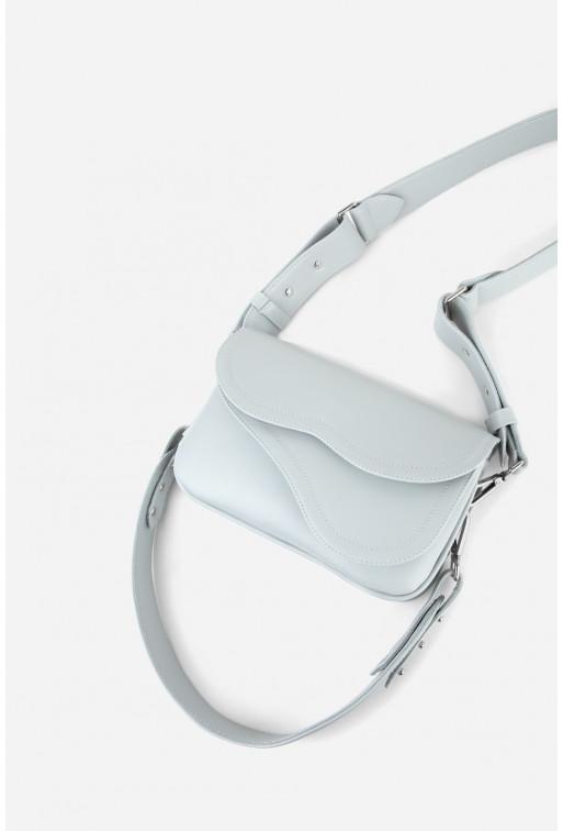 Кросбоді SADDLE BAG 2 з блідо-блакитної гладкої шкіри /срібло/
