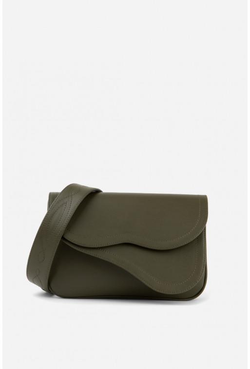 Кросбоді SADDLE BAG 2 кольору хакі /срібло/