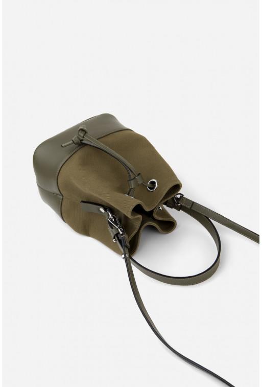 Сумка BUCKET BAG з комбінованої шкіри