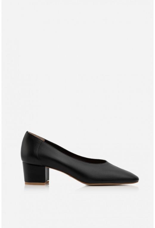 Туфлі ELINE чорні шкіряні без підкладу /4 см/