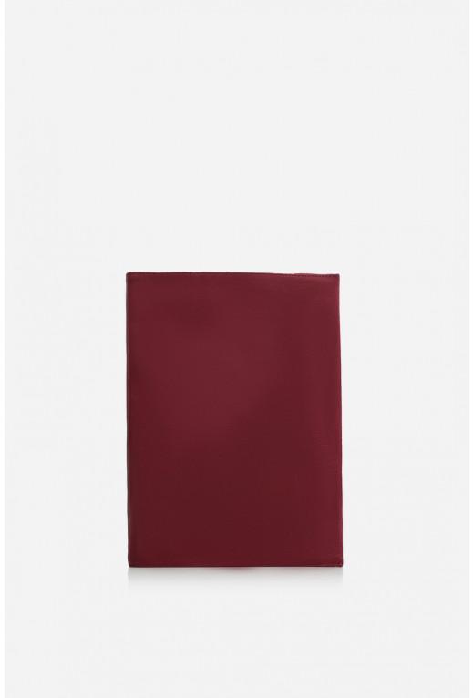 Блокнот  з червоної вінтажної шкіри А4