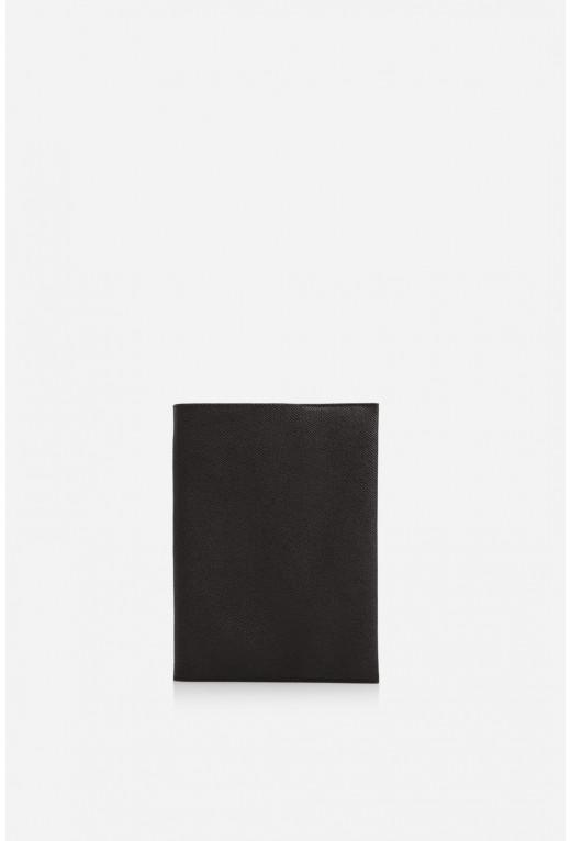 Блокнот  з чорної шкіри сафьяно А5