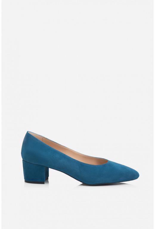 Туфлі ELINE темно-сині  замшеві /4 см/