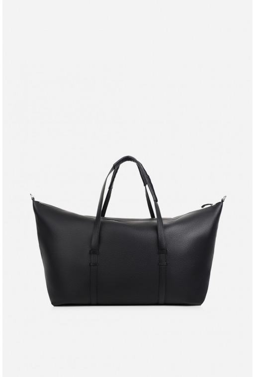 Дорожня сумка  з чорної шкіри флотар