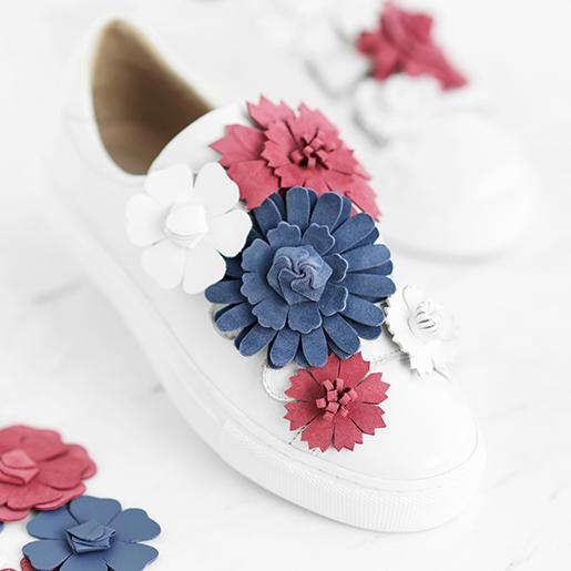 Кеди з квітами з'ємними