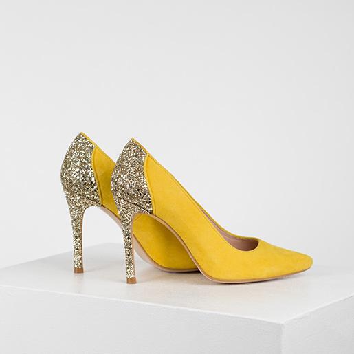 Туфлі замшеві комбіновані