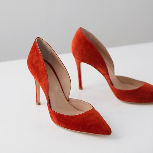 Гостроносі червоні туфлі