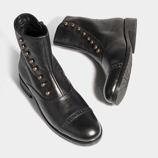 Чоловічі черевики з блискавкою.