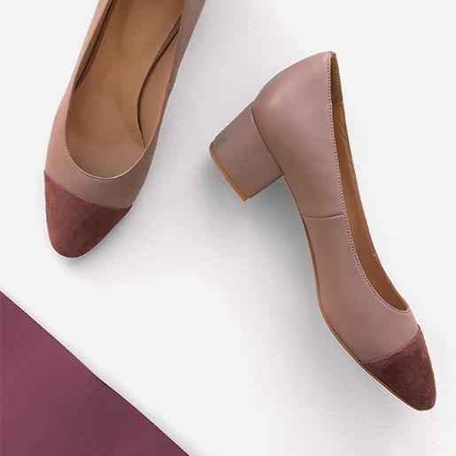 Жіночі туфлі з відрізним носком.