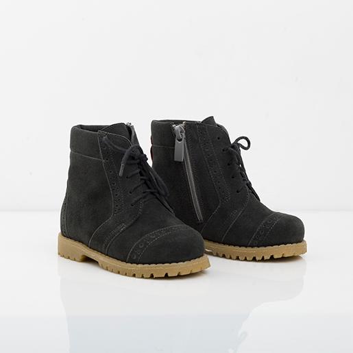 Темно-сірі черевики на шнурівках