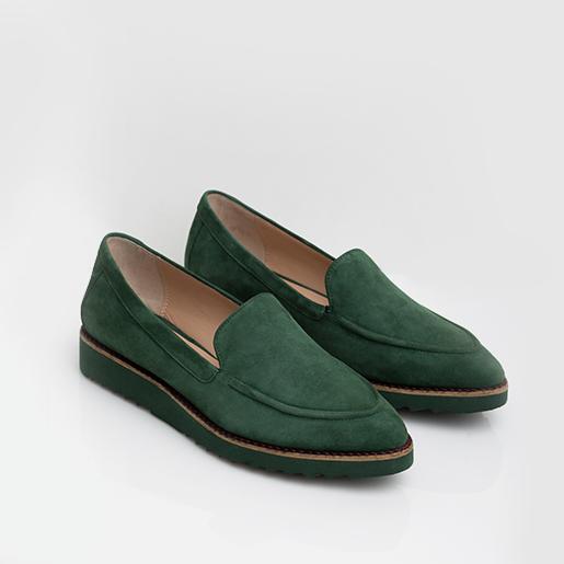 Зелені лоуфери з нубуку