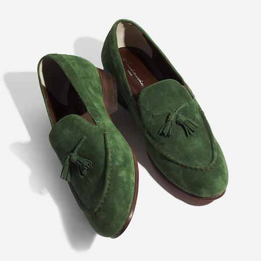 Чоловічі лоуфери зеленого кольору