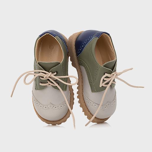Кольорові туфлі на шнурках