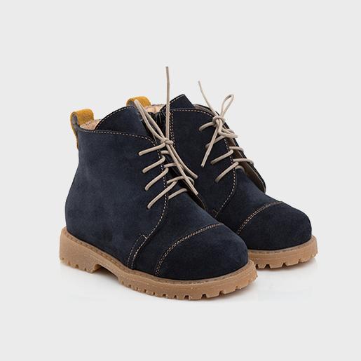 Сині черевики на шнурках та з блискавкою