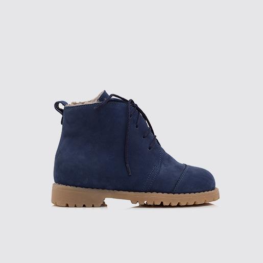 Замшеві сині черевики