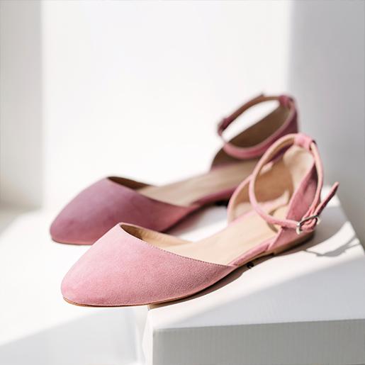 Босоніжки рожеві замшеві