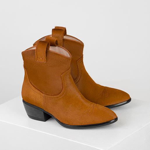 """Ковбойські черевики з фактурної шкіри""""поні"""""""