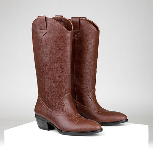 Ковбойські черевики з фактурної шкіри флотар