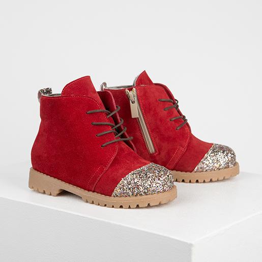 Червоні черевики з блискітками