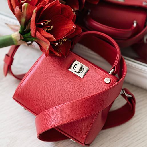 Erna micro червоного кольору