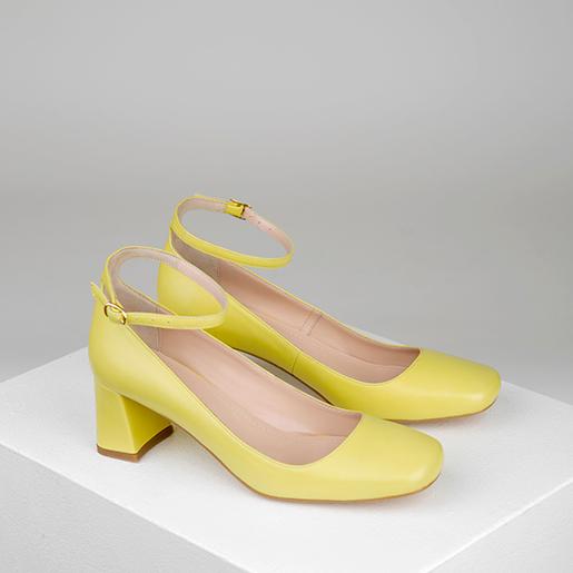Туфлі качині шкіряні на 5 см