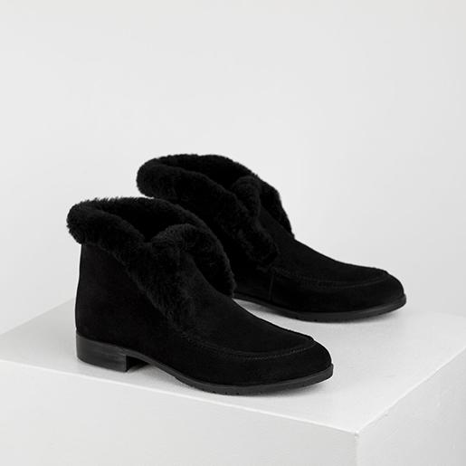 Черевики чорні замшеві