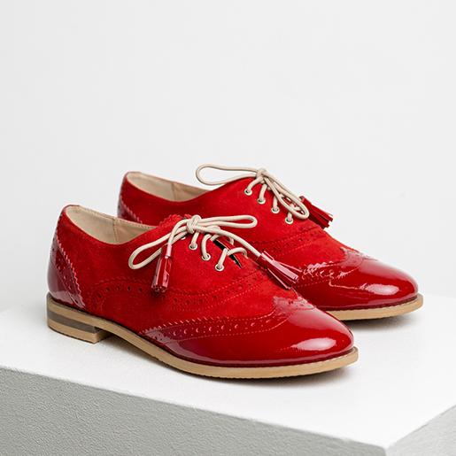 Комбіновані черевики з перфорацією