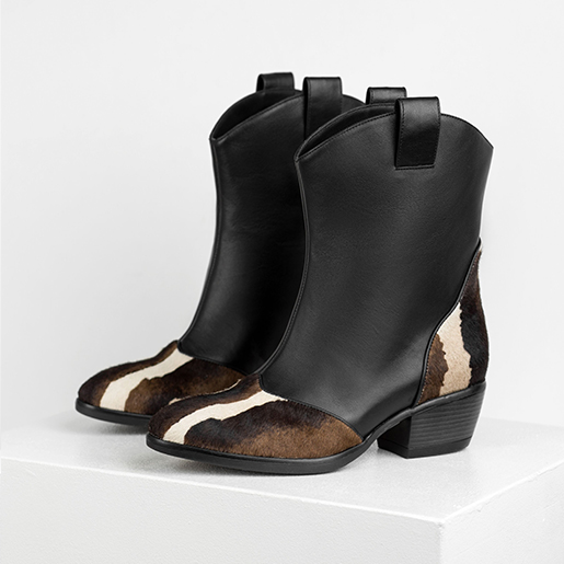 Ковбойські черевики комбіновані
